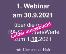 Webinar neue Gebühren und Werte ab 1.10.2021